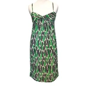 DIANE VON FURSTENBERG Silk Dress DVF Green